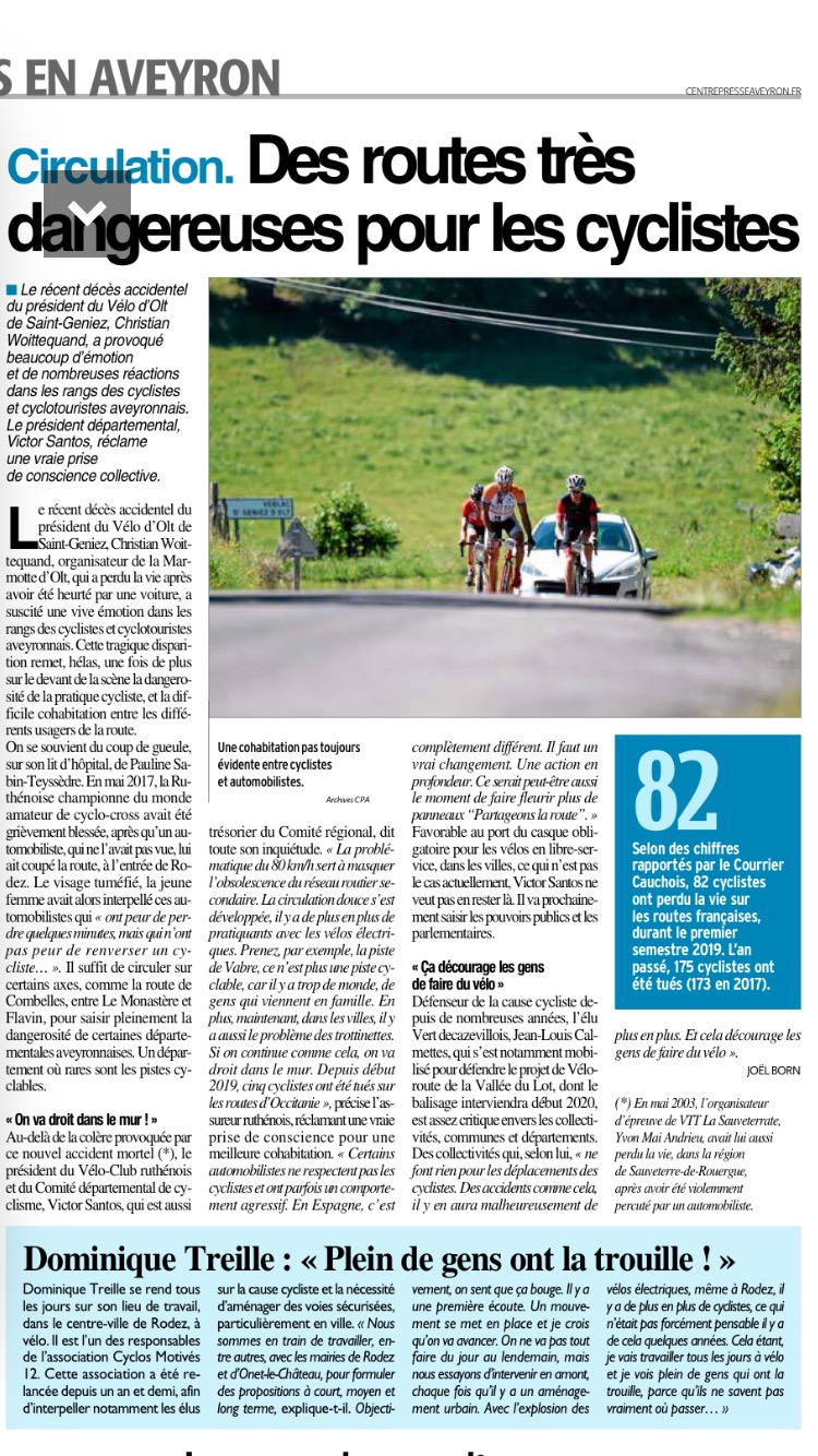 article centre presse 21 aout 2019