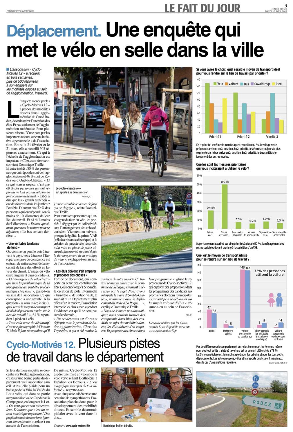 Une enquête qui met le vélo en selle dans la ville